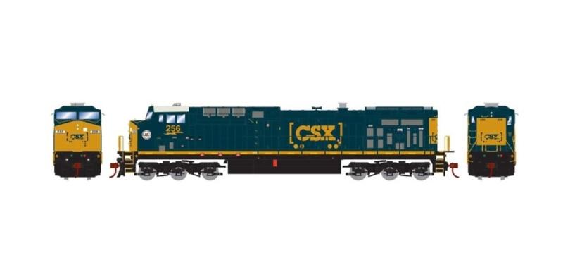 Diesellokomotive AC4400CW #256 der CSX/SCL, DC, Spur H0