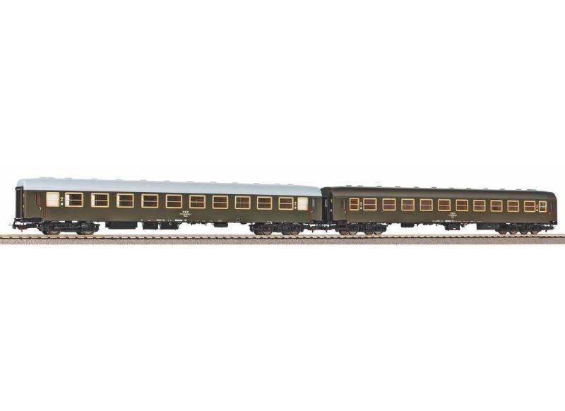 2er Set Personenwagen 111A der PKP, Ep. IV, DC, Spur H0