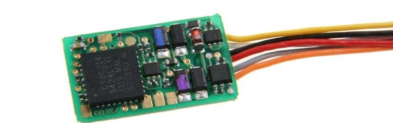 ID2 N-TT Decoder mit Litzen, DCC, für N, TT, H0e & H0m