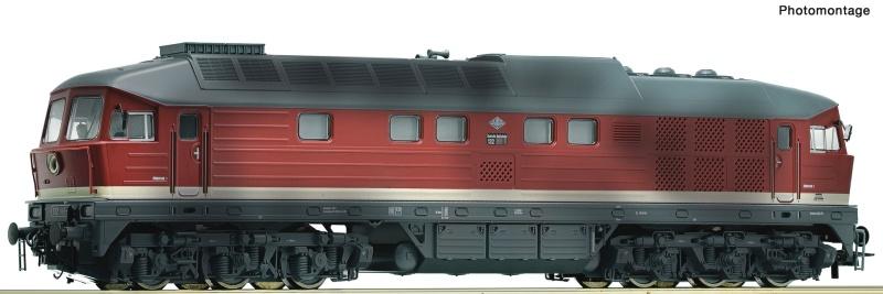 Diesellokomotive BR 132 der DR gealtert, DC, Spur H0
