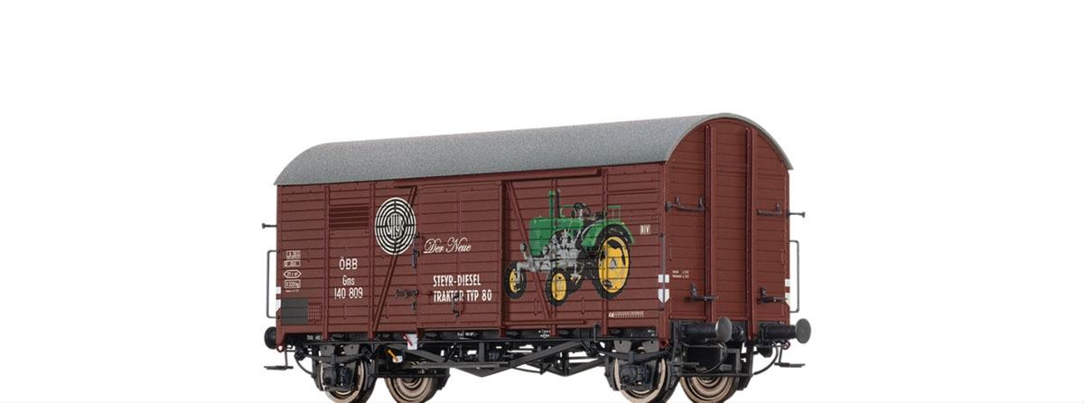 Gedeckter Güterwagen Gms 30 Steyr Puch, ÖBB, DC, Spur H0