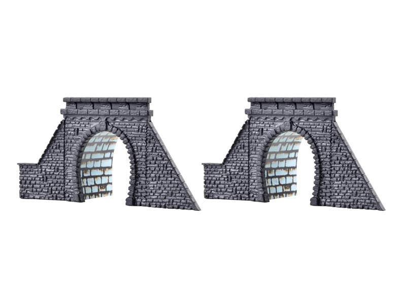 Tunnelportale mit Röhre, eingleisig, 2 Stück, Spur Z