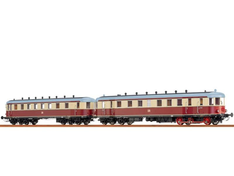 Triebwagen VT137 + Beiwagen VB147 DR, III, AC/S, H0