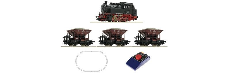 Analog-Startset Dampflokomotive BR 80 mit Güterzug, Spur H0