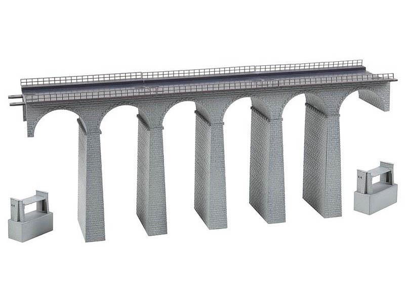 Viadukt-Set, 2-gleisig, gerade Bausatz N