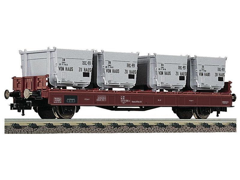 Behältertragwagen Bauart Lbs 583 der DB, DC, Spur H0