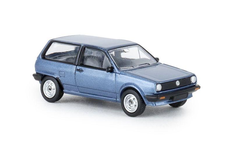 VW Polo II, metallic-blau, 1985, 1:87 / Spur H0