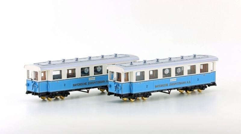 Zugspitzbahn 2-tlg. Set Personenwagen, Spur H0m