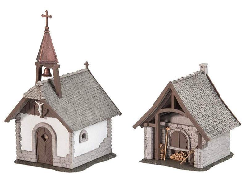 Hofkapelle und Backhaus Bausatz H0