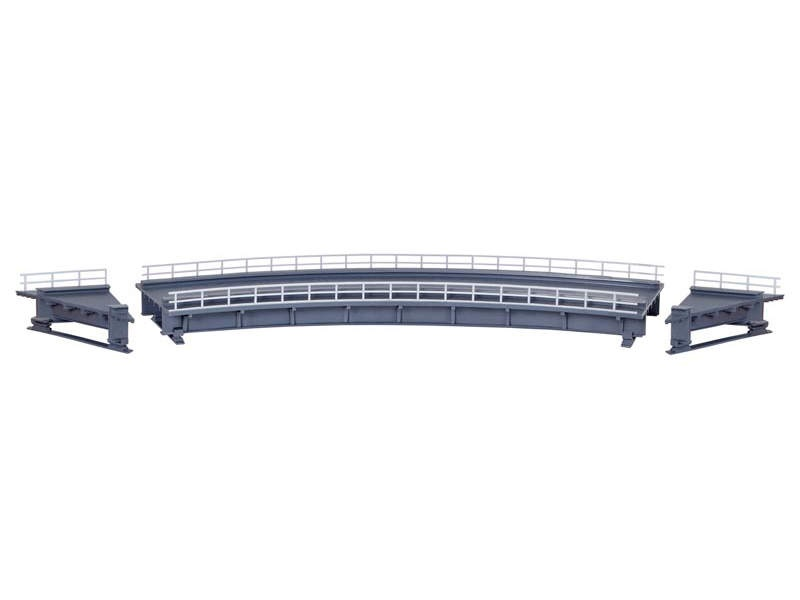 Stahlträgerbrücke gebogen, eingleisig, Bausatz, Spur H0