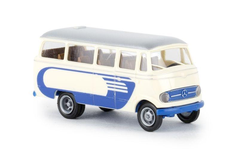 Mercedes O 319 hellbeige, blau mit Dekor, H0