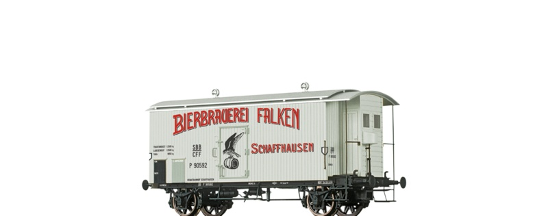 Gedeckter Güterwagen K2 Falken Brauerei, SBB, DC, Spur H0