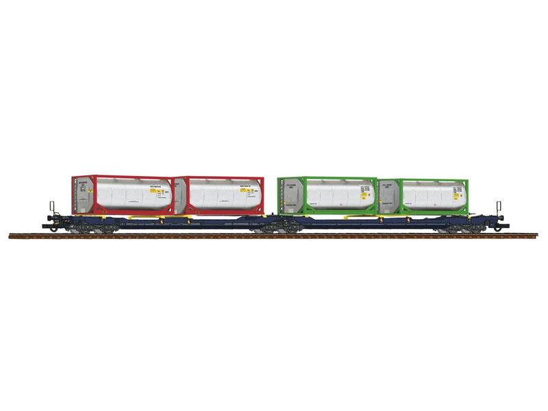 Doppeltaschen-Gelenkwagen T3000e, CEMAT, DC, Spur H0