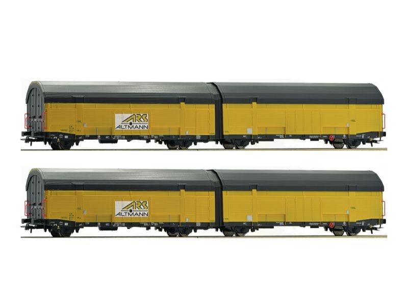 Autotransportwagen-Set, 2-teilig, Epoche VI, Spur H0