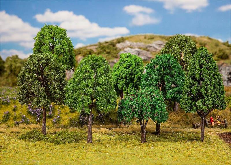20 Mischwaldbäume, sortiert H0, TT, N