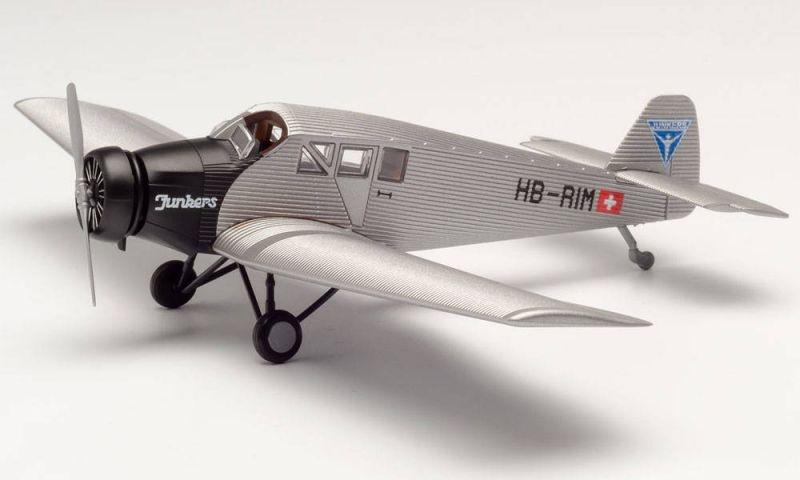 Junkers Flugzeugwerke AG Junkers F13 - HB-RIM, 1:87 / H0