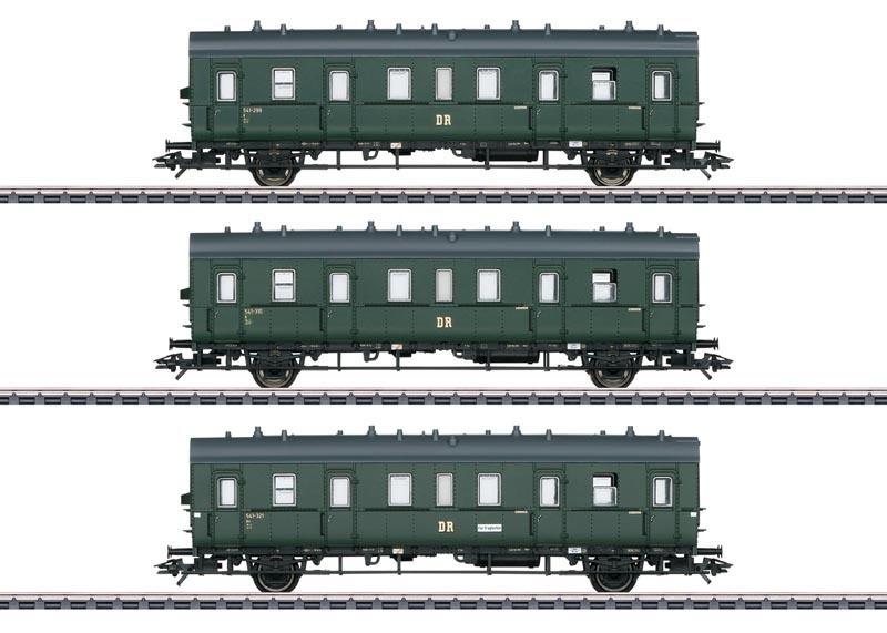 Personenwagen-Set zur Baureihe 75 der DR, AC, Spur H0