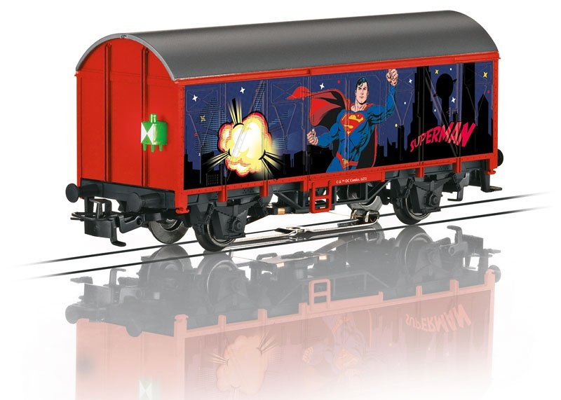 Start up - Gedeckter Güterwagen Superman, AC, Spur H0