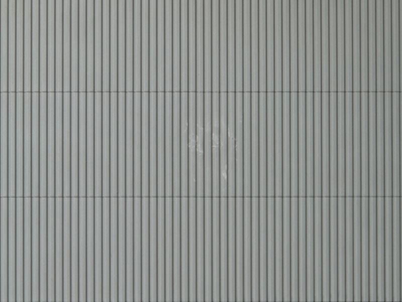 Dekorplatte Trapezblech grau lose, Kunststoff, Spur H0/TT