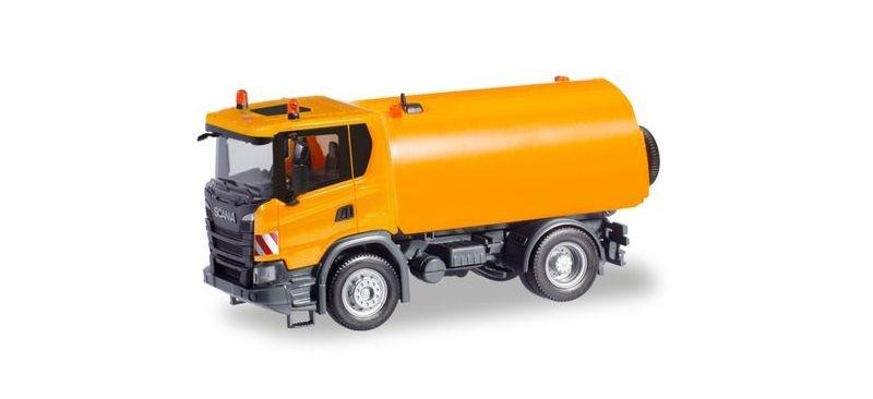 Scania CG 17 Kehrfahrzeug, kommunalorange, 1:87 / H0