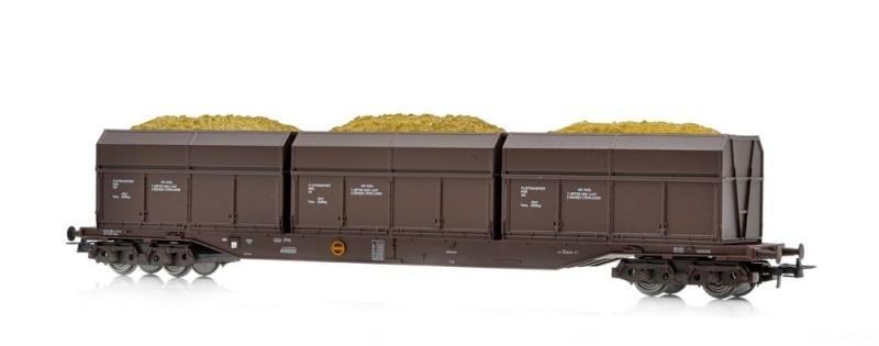 Topline Rps Flachwagen NSB mit Holzschnitzelcontainer,H0
