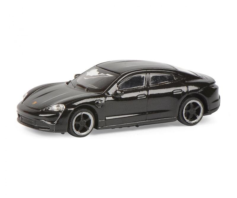 Porsche Taycan, schwarz 1:87 / Spur H0