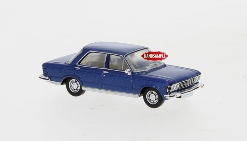 Fiat 130 metallic blau, 1969, 1:87 / Spur H0