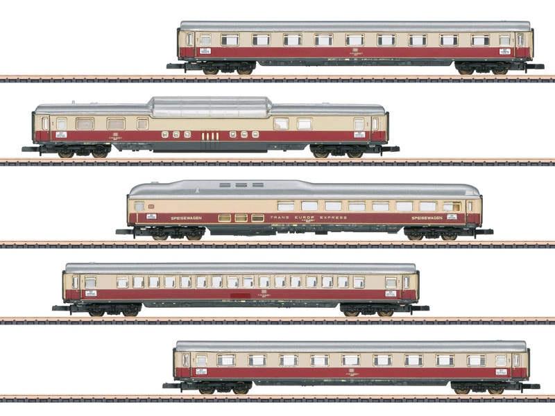 Personenwagen-Set Rheingold TEE DB Spur Z
