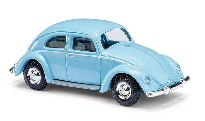 VW Käfer mit Ovalfenster, Hellblau, Spur H0