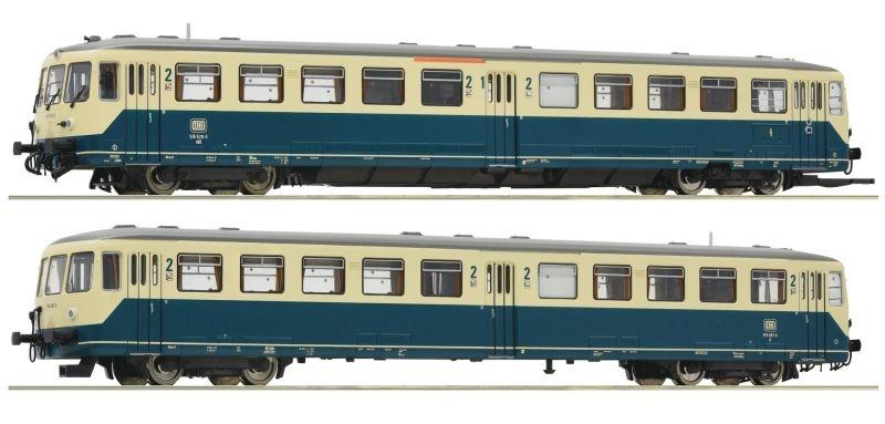 Akkutriebwagen BR 515 mit Steuerwagen, DB, Sound, DC Spur H0