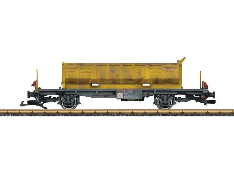 RhB Containertragwagen mit Abraummulde Spur G