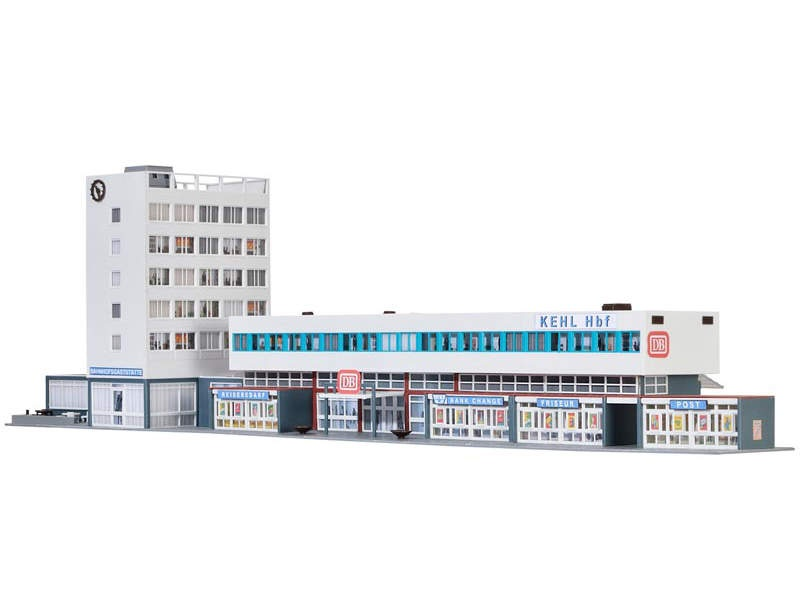 Bahnhof Kehl inkl. Etageninnenbeleuchtung, Bausatz, Spur H0