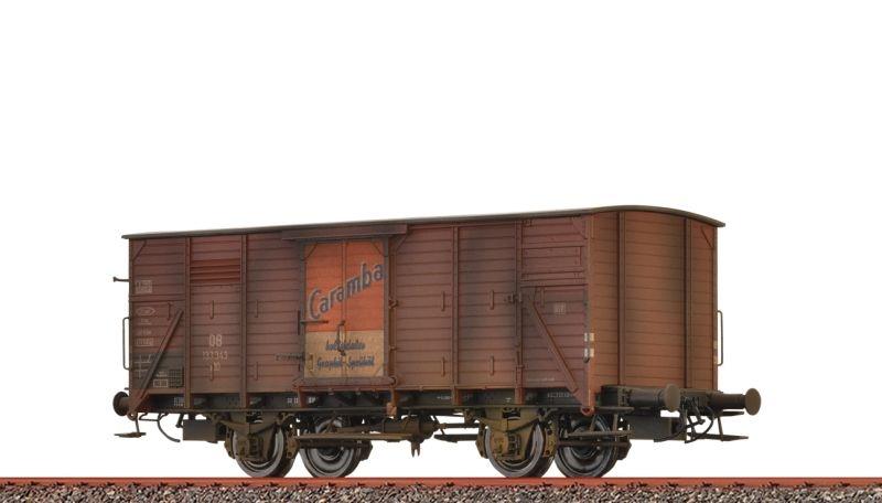 Gedeckter Güterwagen G10 Caramba der DB, patiniert, DC, H0