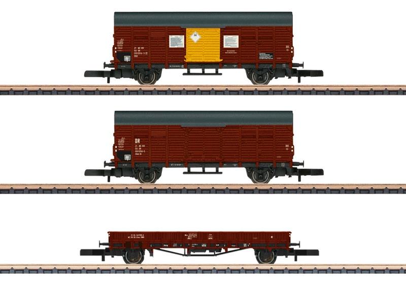 Güterwagen-Set der DR, Spur Z