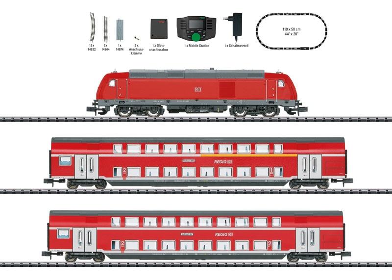 Startpackung Regionalexpress der DB AG, Minitrix Spur N