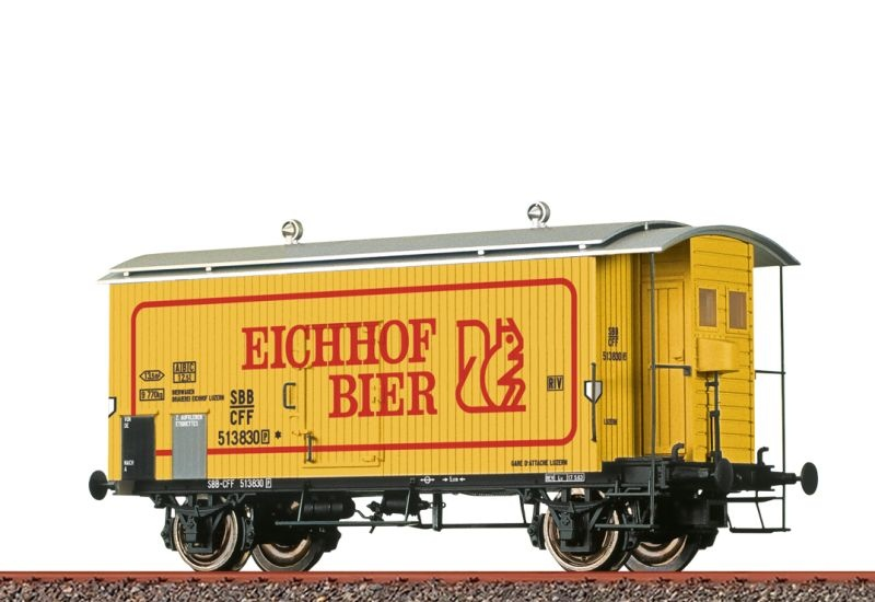 Gedeckter Güterwagen K2 Eichhof Bier der SBB, DC, Spur H0