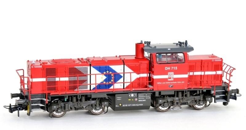 Diesellok Vossloh G1000 BB HGK, Ep.V-VI, DC, Spur H0