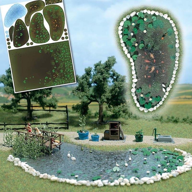Gartenteich - Set, Spur H0
