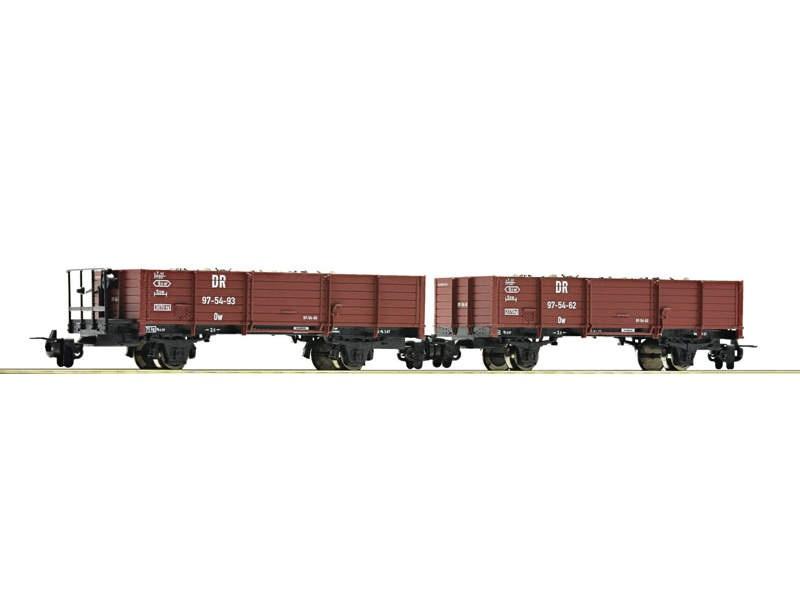 Güterwagen-Set Schotterwagen 2-tlg. DR H0e