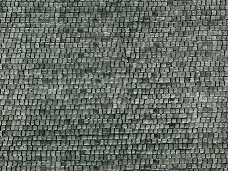Mauerplatte Pflasterstein aus Karton, 25 x 12,5 cm, Spur N