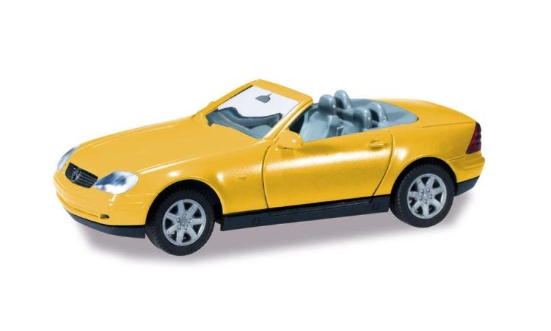 Minikit Mercedes-Benz SLK Roadster, gelb, 1:87 / Spur H0