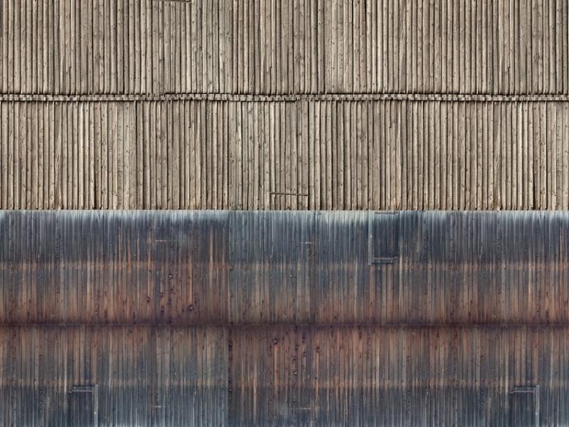 3D-Kartonplatte Bretterwand, Spur N