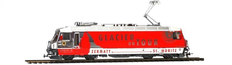 E-Lok Ge 4/4 III 651 Glacier on Tour RhB, 3L-WS, Spur H0