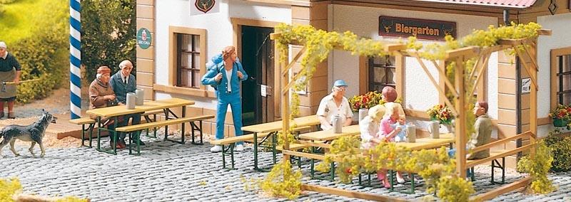 Gartenbänke & Biergarten-Garnituren, Bausatz, Spur G