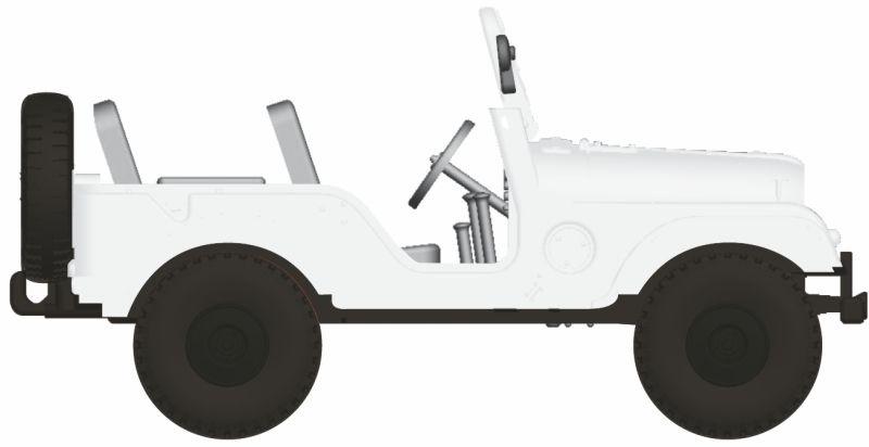 Jeep Universal, weiß von Arwico, Spur H0
