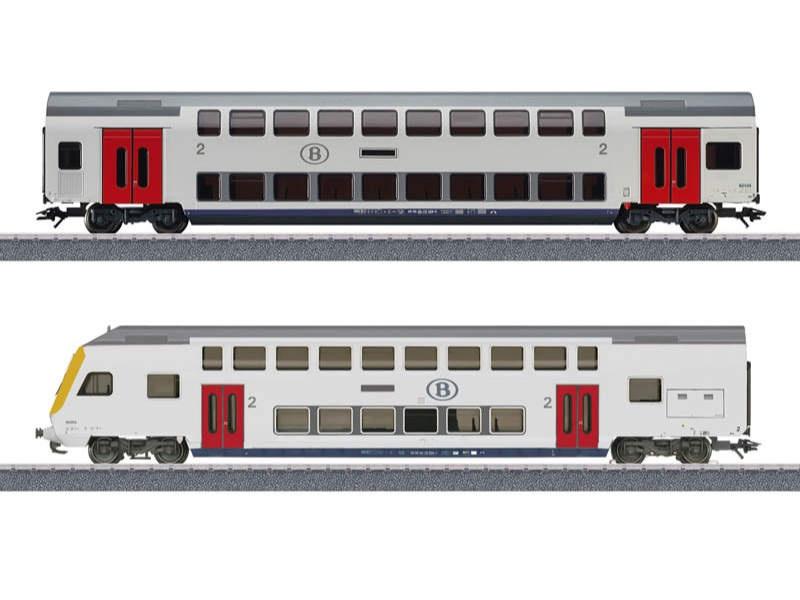 Doppelstockwagen-Ergänzungspackung 2. Klasse SNCB H0