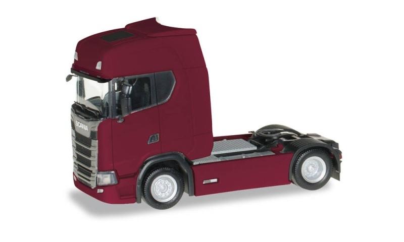 Scania CS 20 HD Zugmaschine mit Sonnenblende, rubinrot, H0