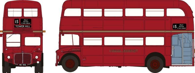 Routemaster Doppeldecker aus London, 1:87 / Spur H0