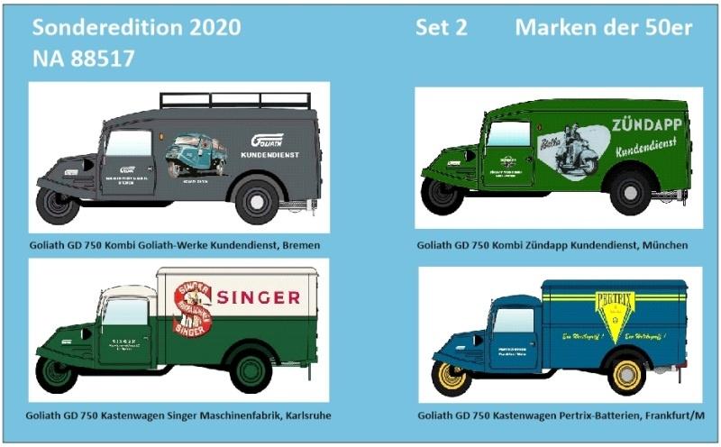 Goliath GD 750 Set 2 Wirtschaftswunder Marken der 50er, H0
