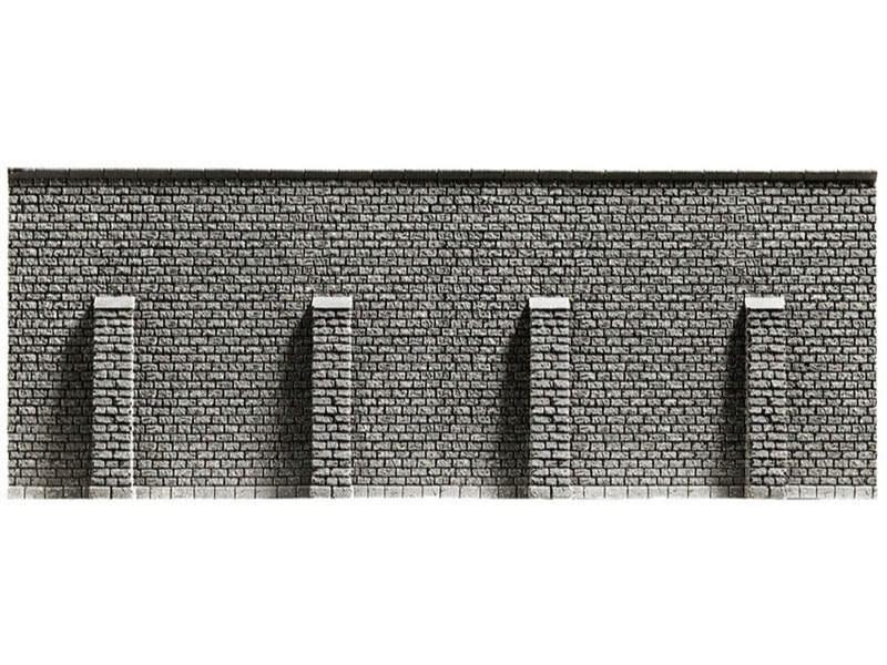Stützmauer, extra lang, 39,6 x 7,4 cm Spur N
